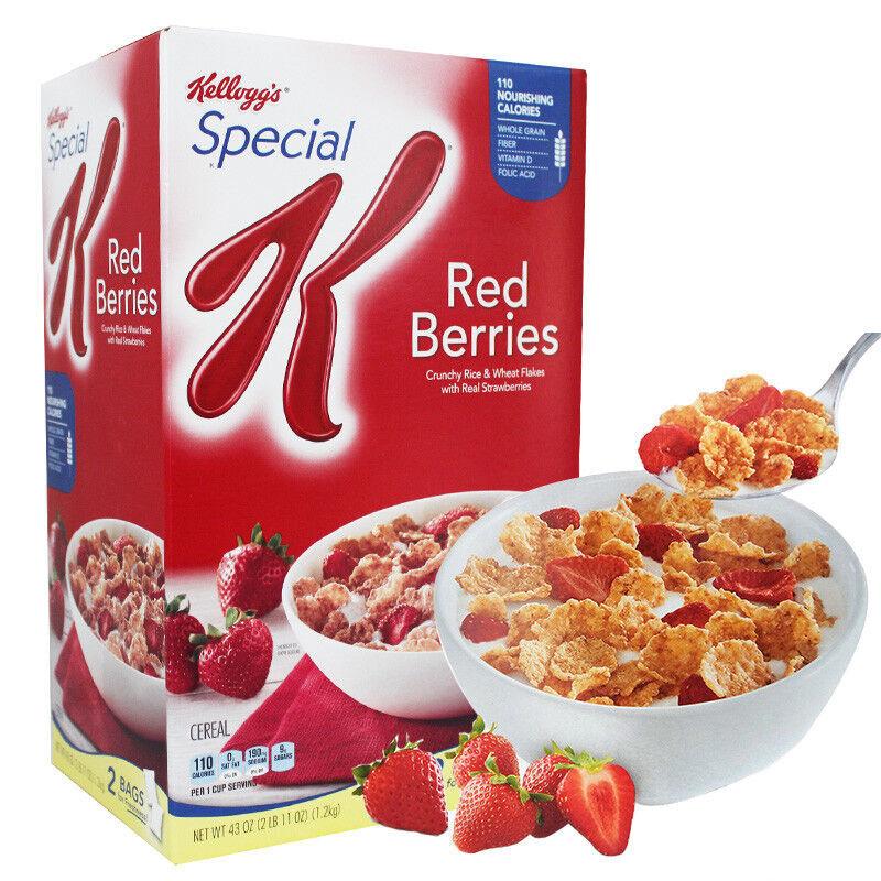 家乐氏 草莓早餐麦片 1200g